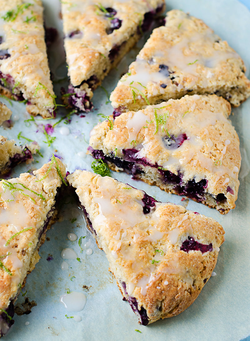 Blueberry Lime Scones