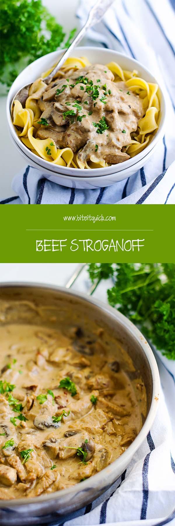 Beef Storganoff