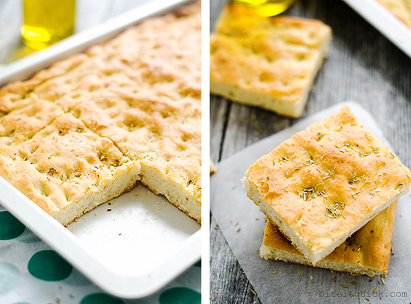Focaccia Bread with Garlic and Rosemary